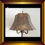 Antique lamp shade Morning Glory